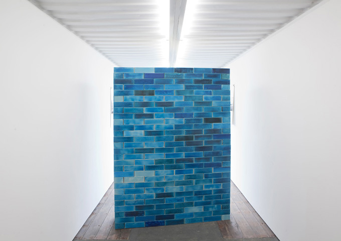 HELLA BERENT: Anteroom BLUE WITH MIRROR, FIH Field Institute Hombroich - Stiftung Insel Hombroich - Raketenstation Hombroich, 2010