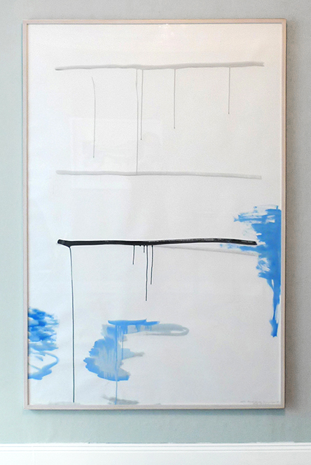 RUNNING LIQUID - peace of time 2014 - Gouache on Fabriano Paper - 178 x 118 cm