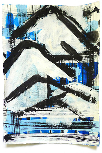 ColdWar II 2015 - Gouache auf Büttenpapier - 31 x 20,5 cm