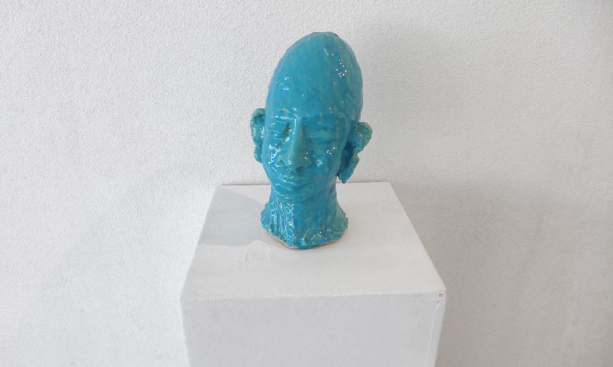 Head # 25 Isfahan, Iran 2007 - Clay, Glase, 35 x 16 cm