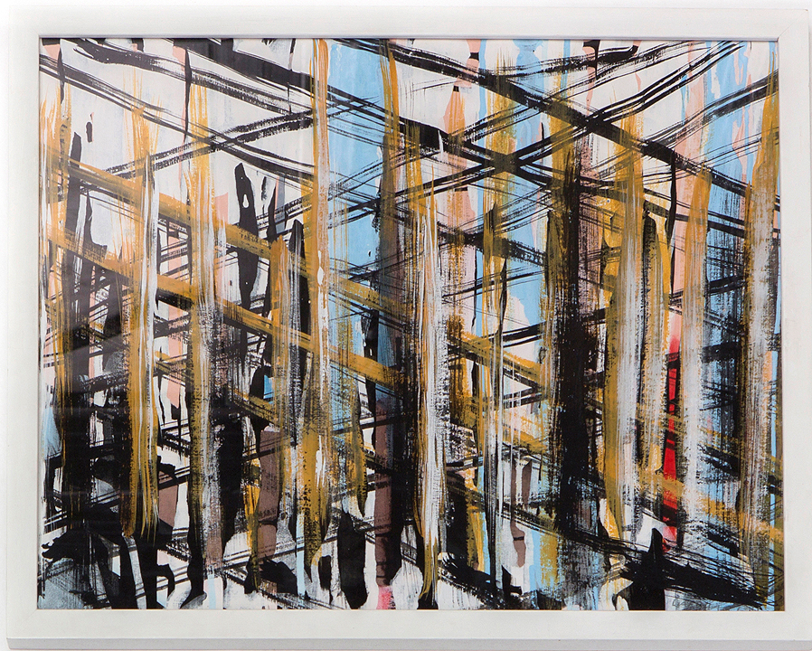 WaldHalle II 2013 Gouache on Paper 34,5 x 45,5 cm