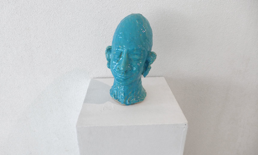 Head # 25 Isfahan, Iran 2007 - Clay, Glase, 35 x 16 cm
