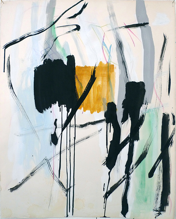 Space Underline 2, 2016 - 76 x 56 cm - Aquarell, Plaka, Acryl auf Büttenpapier