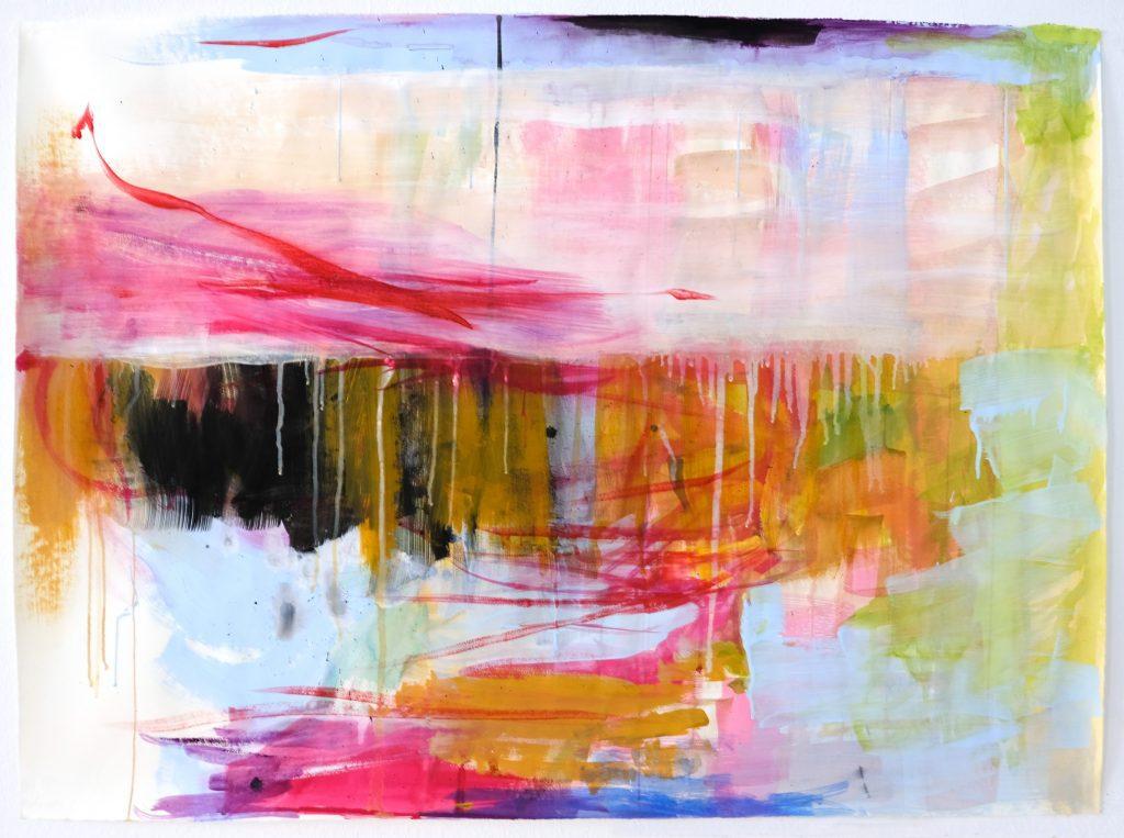 O.T. Surprise Of The Night 2019 - Watercolor, Gouache, Acrylic on Bütten Paper - 78,5 x 106 cm